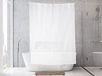 BadeStern Transparenter Duschvorhang mit 3D-Effekt, 12 Ringe, 180 x 200 cm; WC-Garnituren zur Wandmontage WC-Garnituren zur Wandmontage WC-Garnituren zur Wandmontage WC-Garnituren zur Wandmontage
